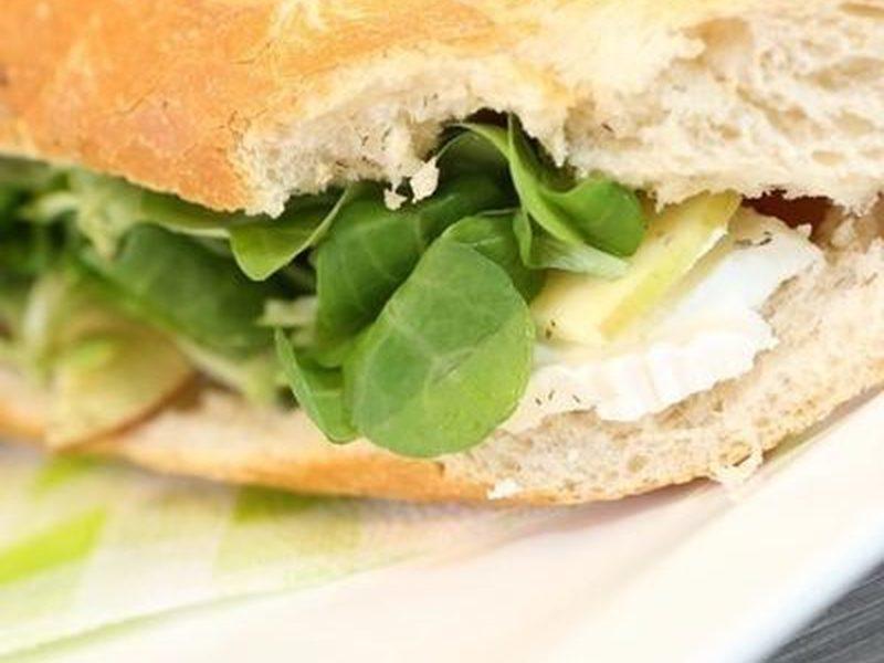 Sandwich scampis à l'ail